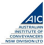 Australian Institute of Conveyancers NSW Division